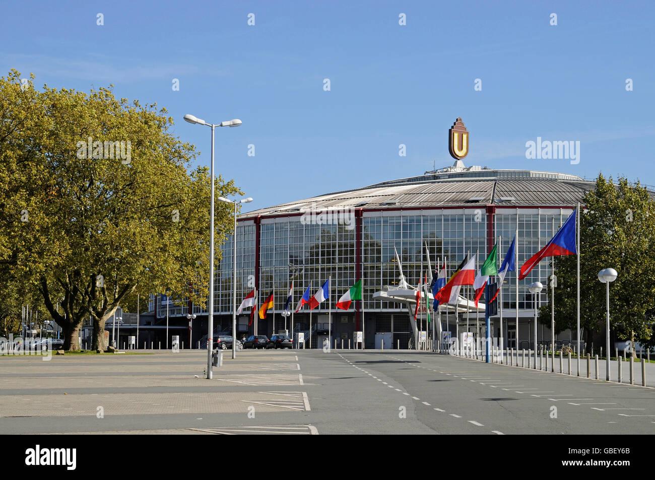 Westfalenhallen, Dortmund, North Rhine-Westphalia, Germany / Westfalenhalle - Stock Image