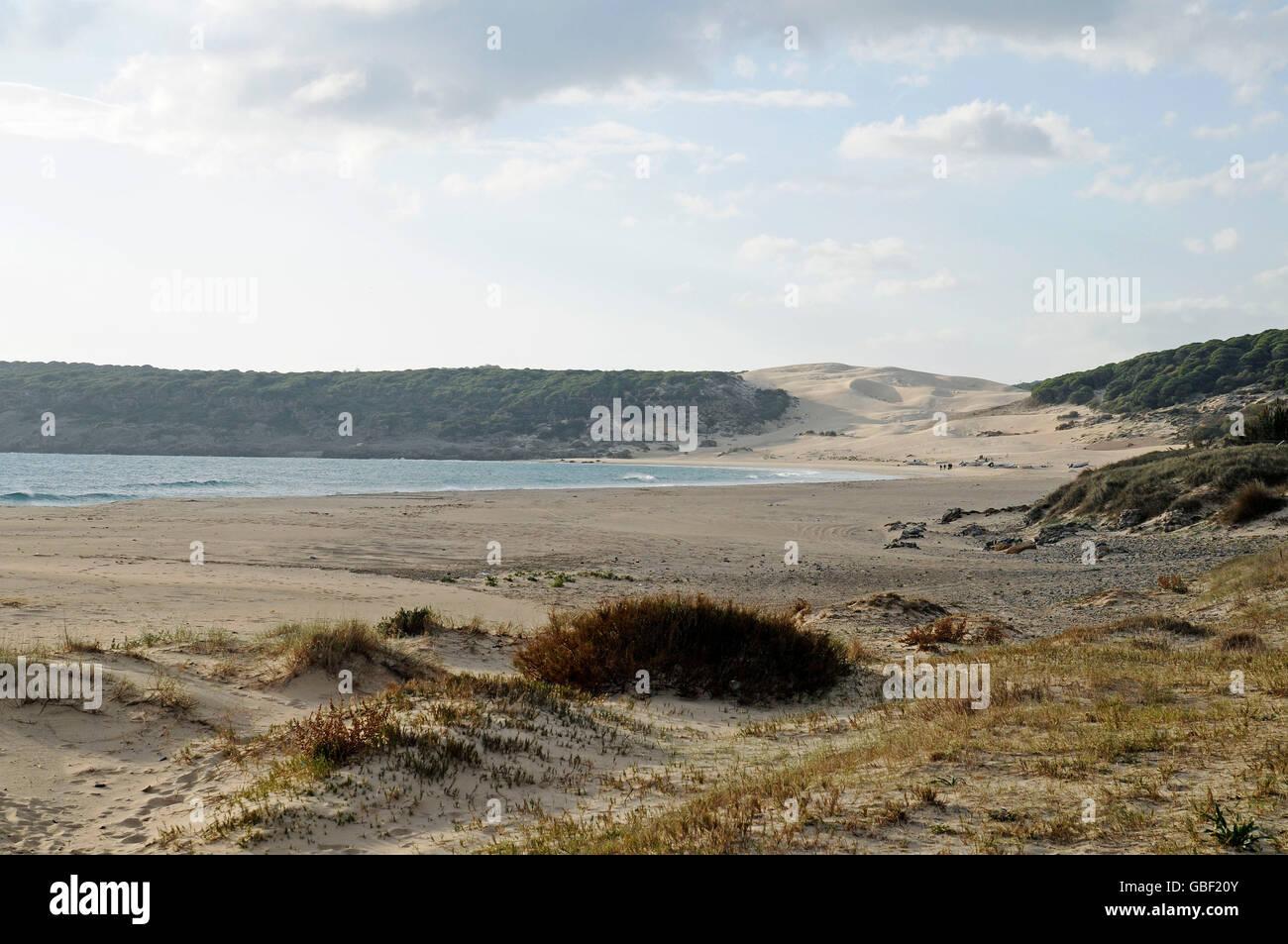 Playa de Bolonia, beach, Tarifa, Province of Cadiz, Costa de la Luz, Andalusia, Spain, Europe Stock Photo
