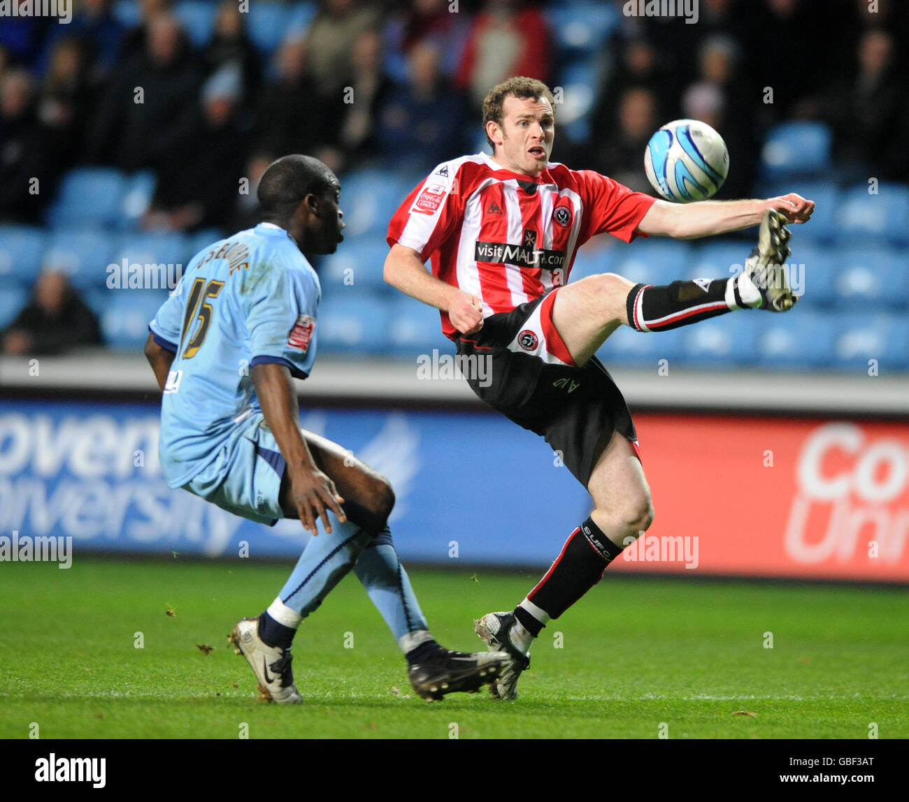 Soccer - Coca-Cola Football League Championship - Coventry City v Sheffield United - Ricoh Arena - Stock Image
