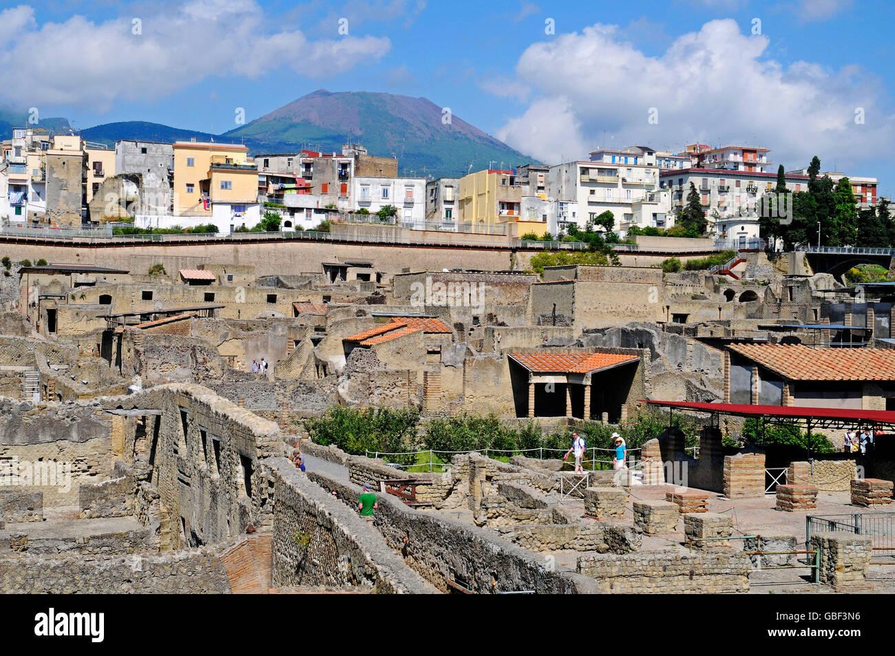 archaeological site, Herculaneum, Ercolano, Naples, Campania, Italy Stock Photo