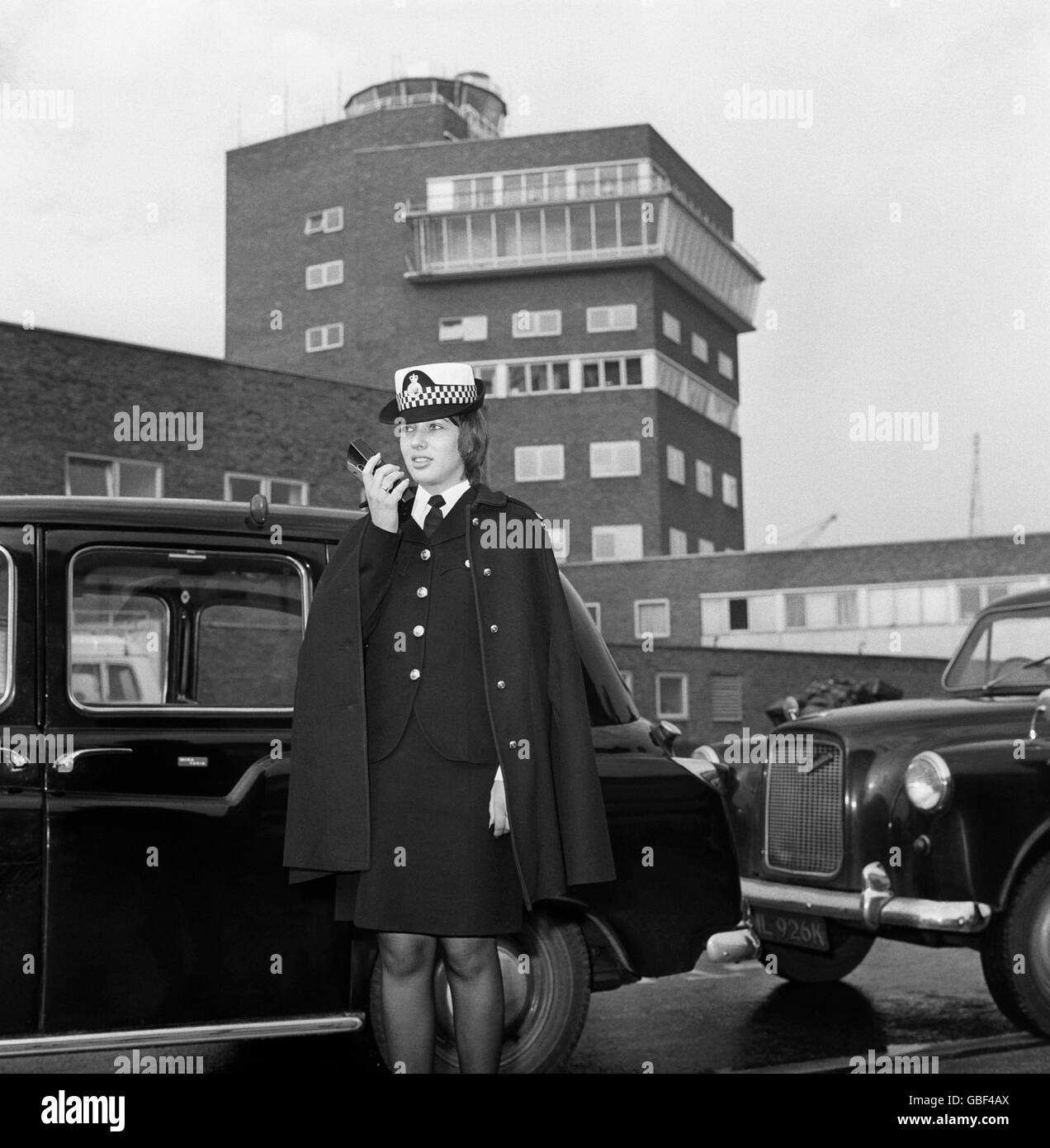 Work - Metropolitan Police - Heathrow Airport - 1974 - Stock Image