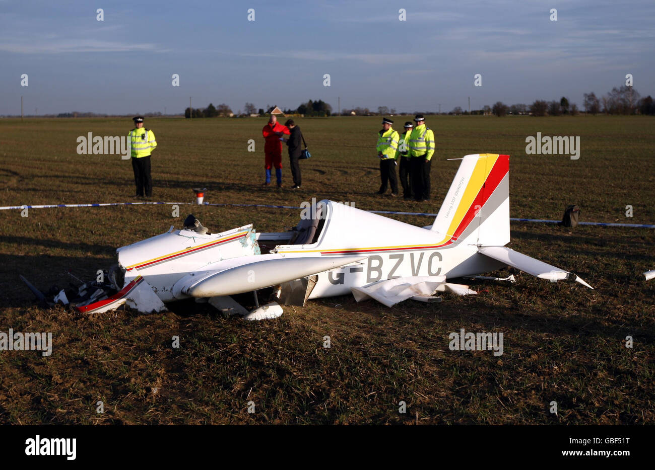Air crash in Spalding - Stock Image