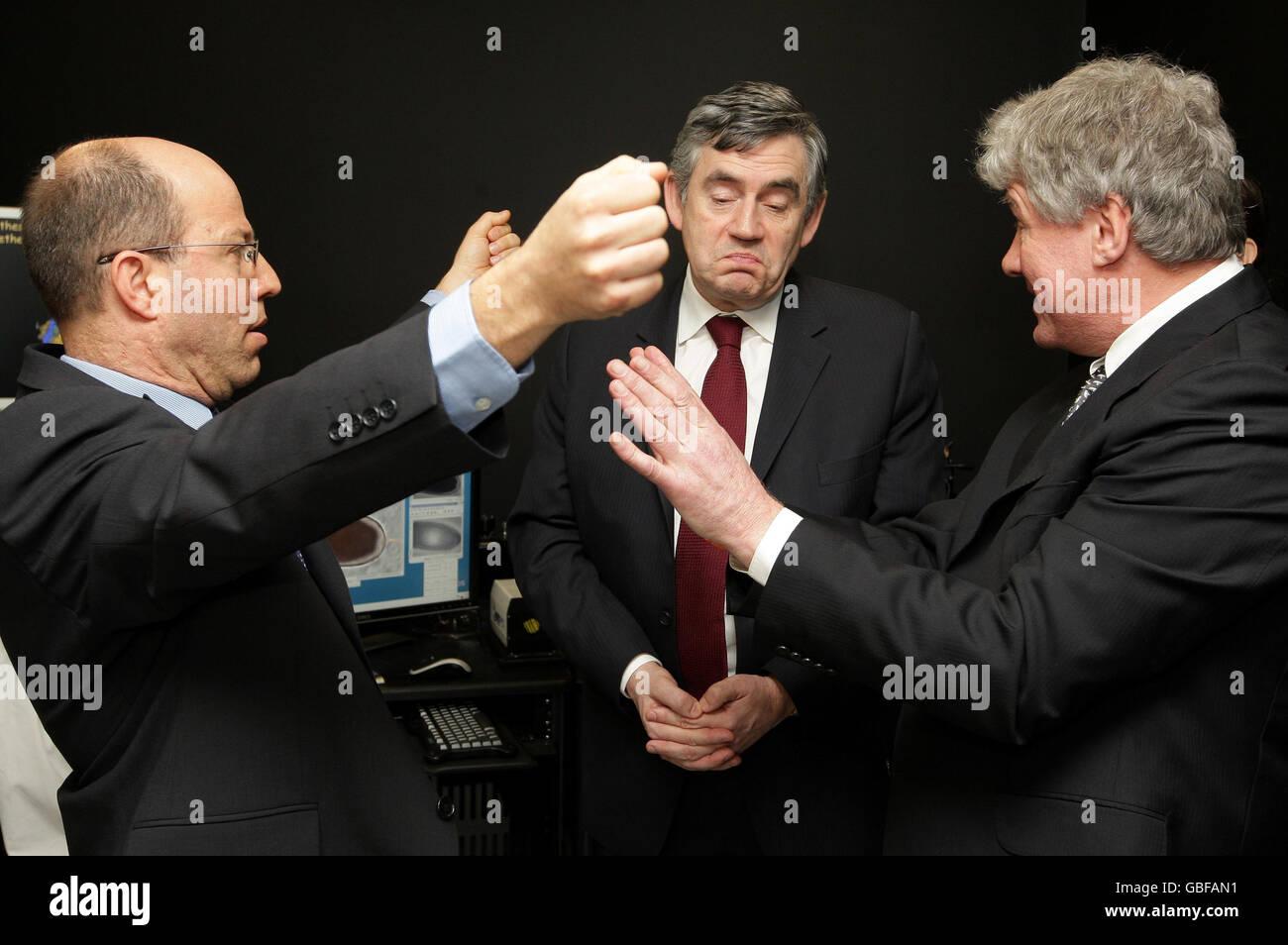 Gordon Brown visits Oxford - Stock Image
