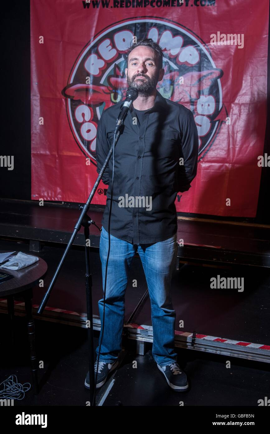Respected UK comedian Gordon Southern . Pictured @ The Rose and Crown pub Walthamstow part of Red Imp comedy festival Stock Photo