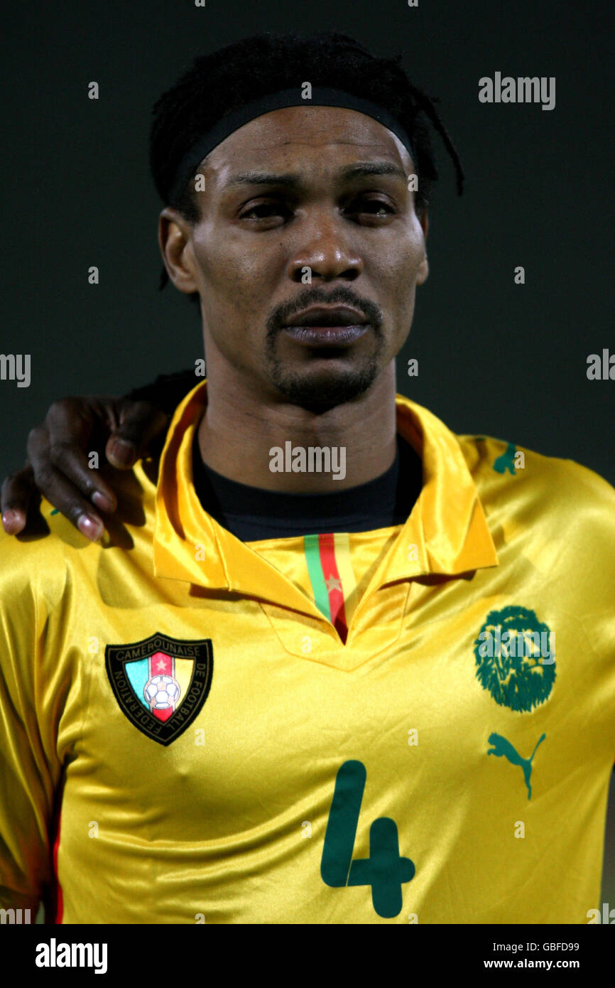 Soccer - International Friendly - Cameroon v Guinea - Stade Robert Bobin - Stock Image