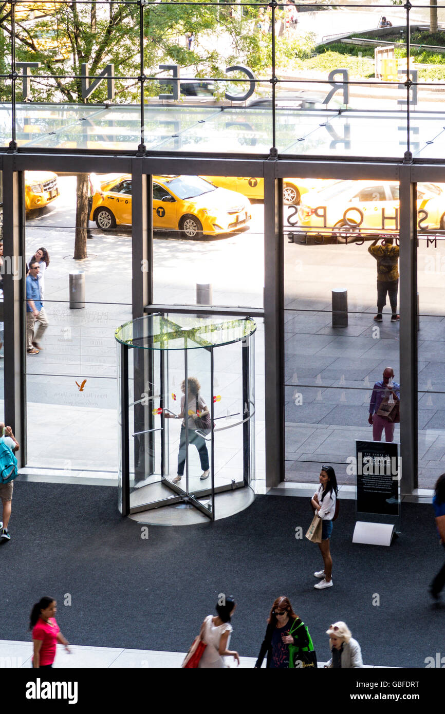 Shoppers at Lobby Revolving Door Entrance The Shops at Columbus Circle Time Warner Center NYC & Shoppers at Lobby Revolving Door Entrance The Shops at Columbus ...