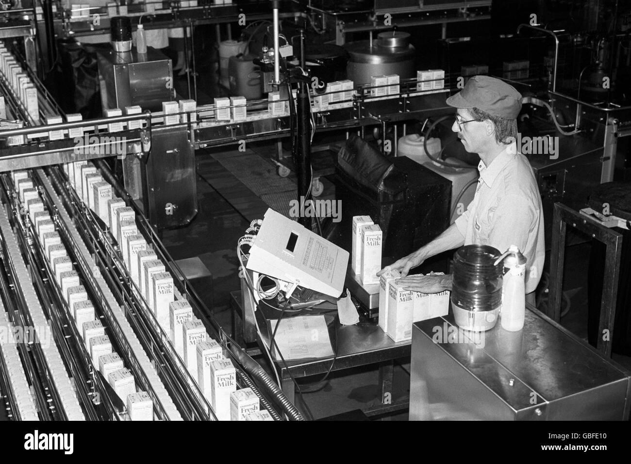 British Industry - Dairy - London - 1987 - Stock Image