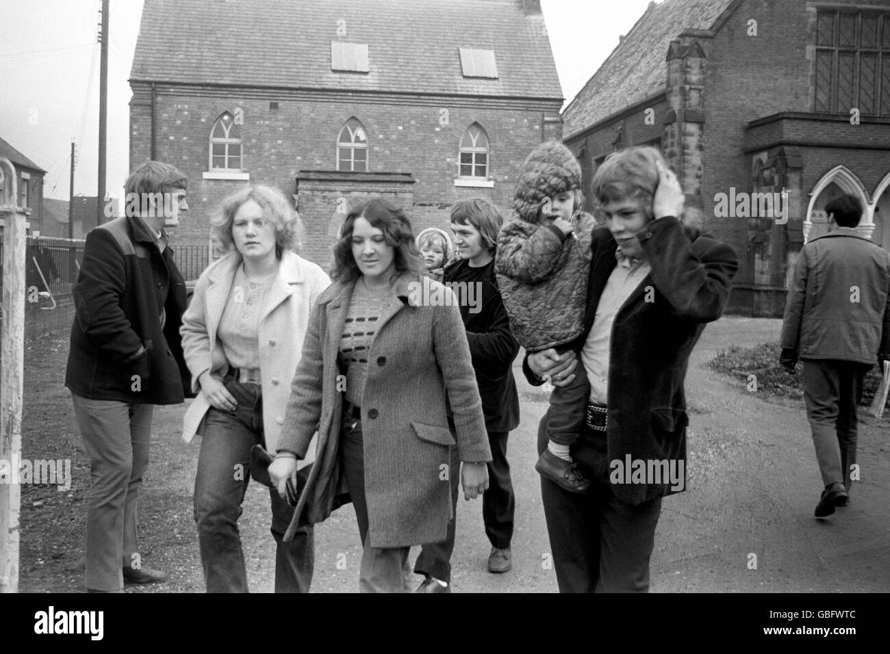 Miner's Strike - Protest - Stafford - 1972 - Stock Image