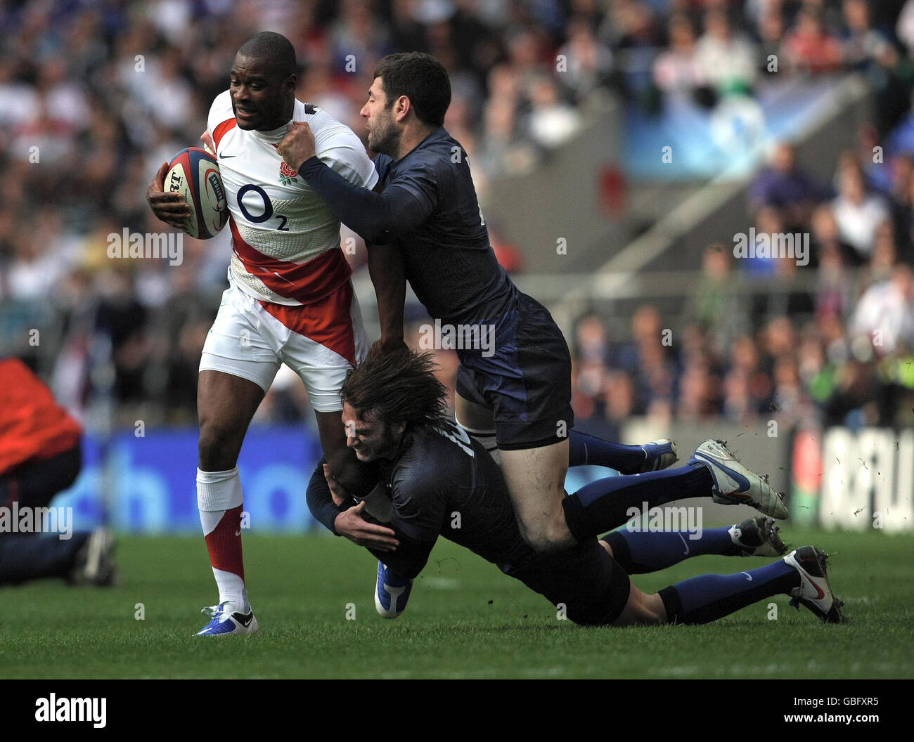 Rugby Union - RBS 6 Nations Championship 2009 - England v France - Twickenham - Stock Image
