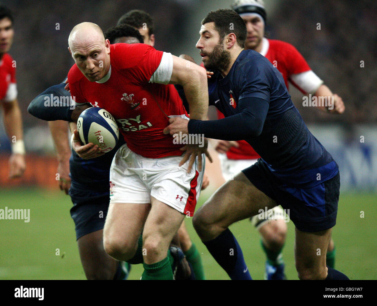 Rugby Union - RBS Six Nations Championship 2009 - France v Wales - Stade de France - Stock Image