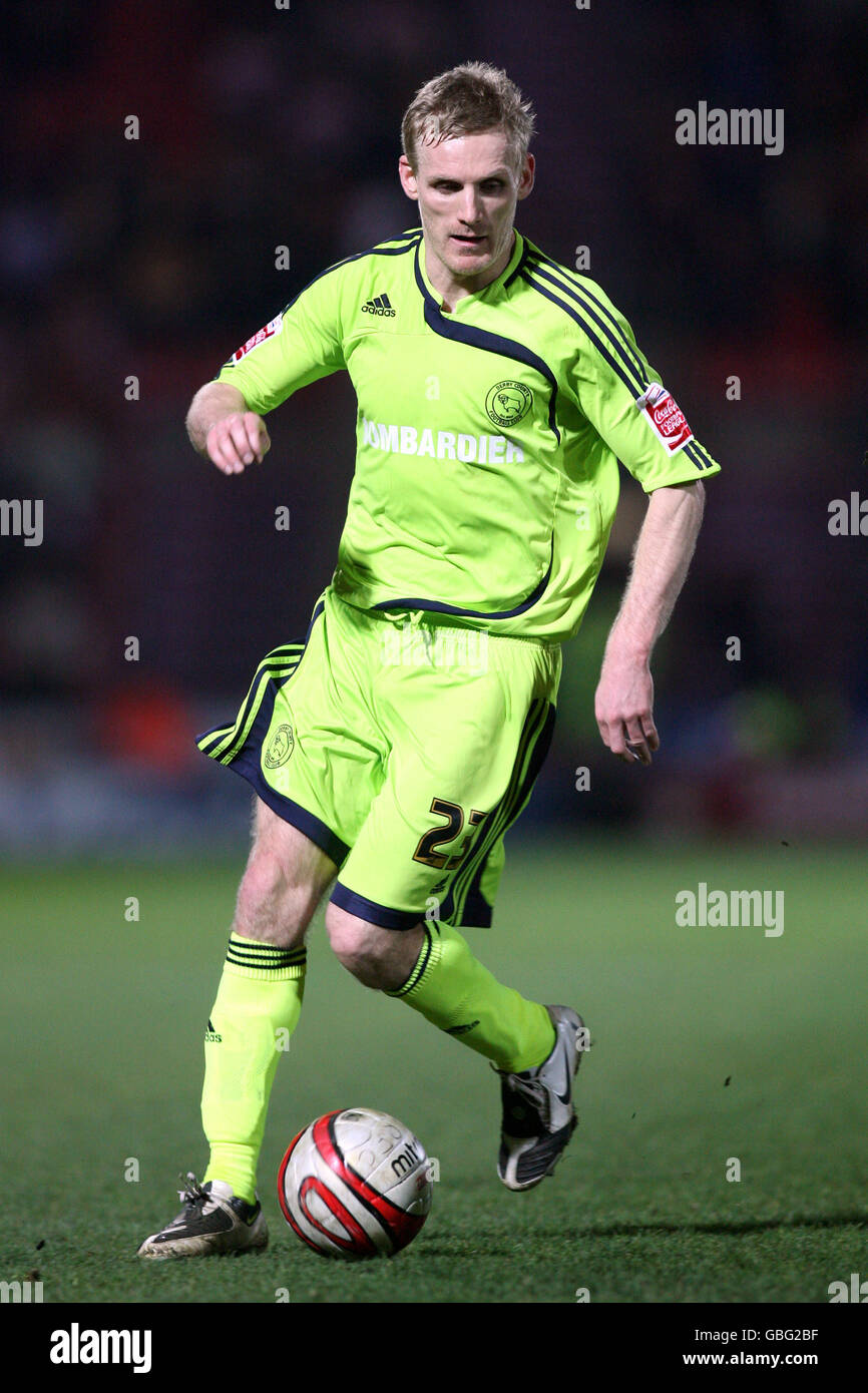 Soccer - Coca-Cola Football League Championship - Doncaster Rovers v Derby County - Keepmoat Stadium - Stock Image
