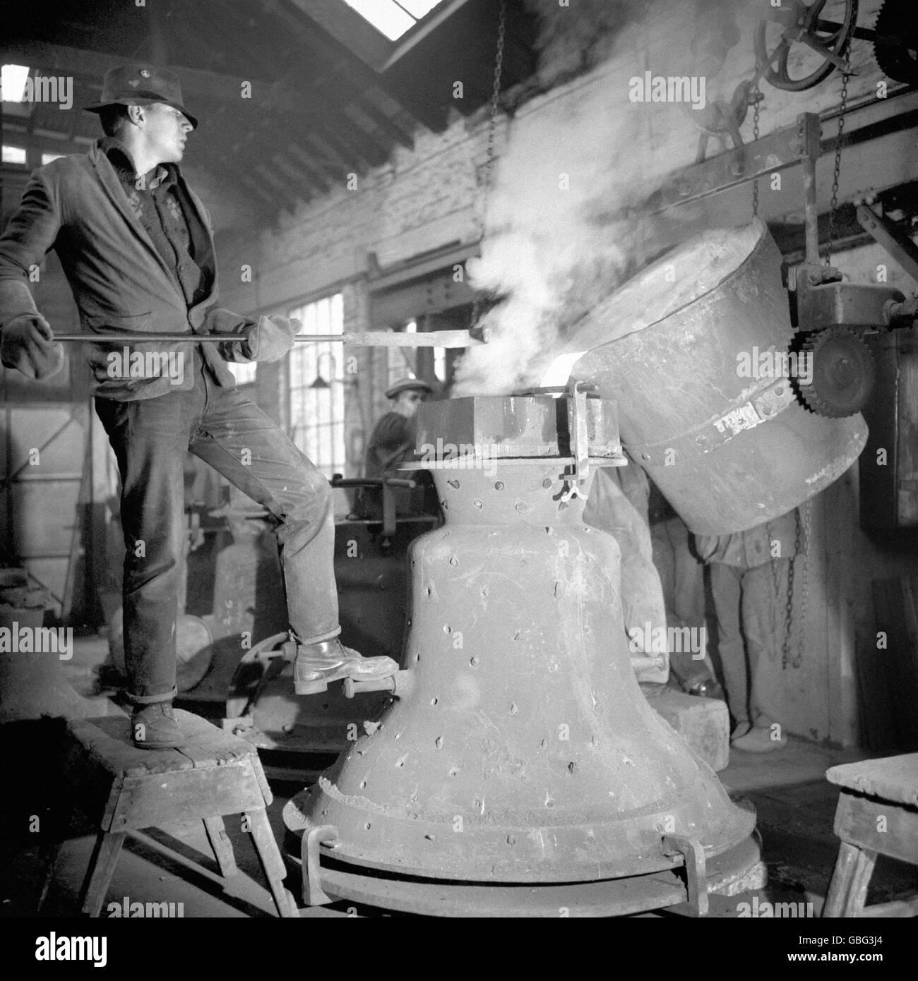 British Industry - Whitechapel Bell Foundry - London - 1965 - Stock Image