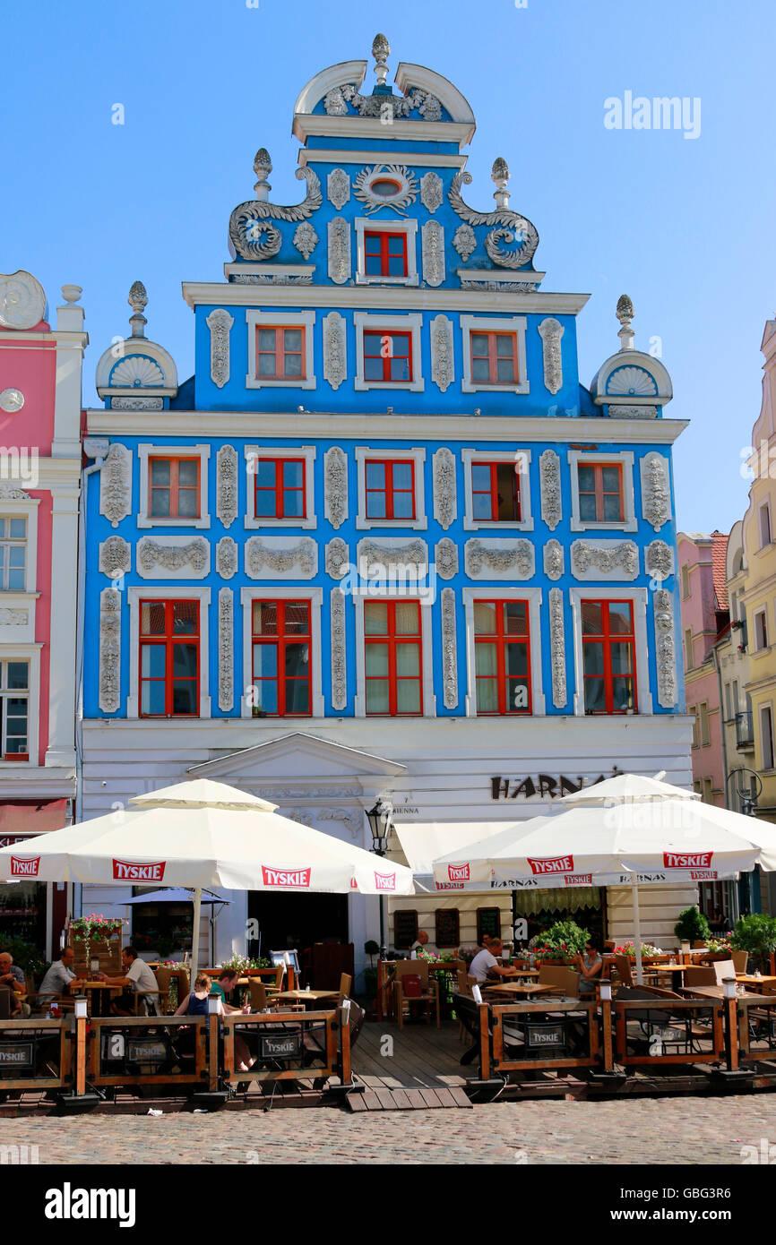 Impressionen: Heumarkt, Altstadt - Stettin, Polen. - Stock Image
