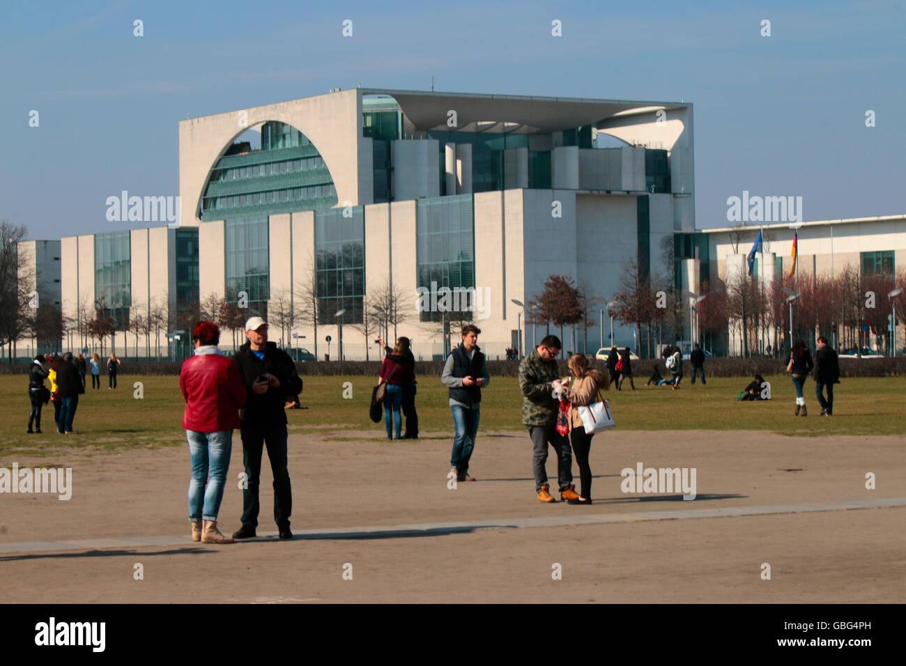 Bundeskanzleramt, Berlin-Tiergarten. - Stock Image