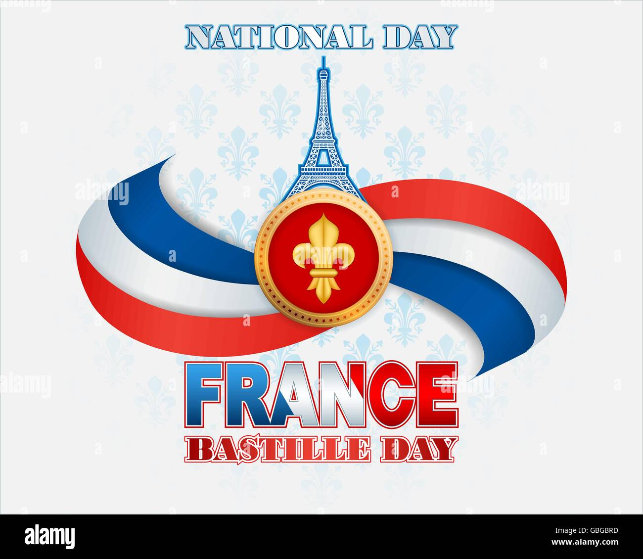 Background with the france flag colors eiffel tower shape and lily background with the france flag colors eiffel tower shape and lily flower symbol for national day of france bastille day izmirmasajfo Choice Image
