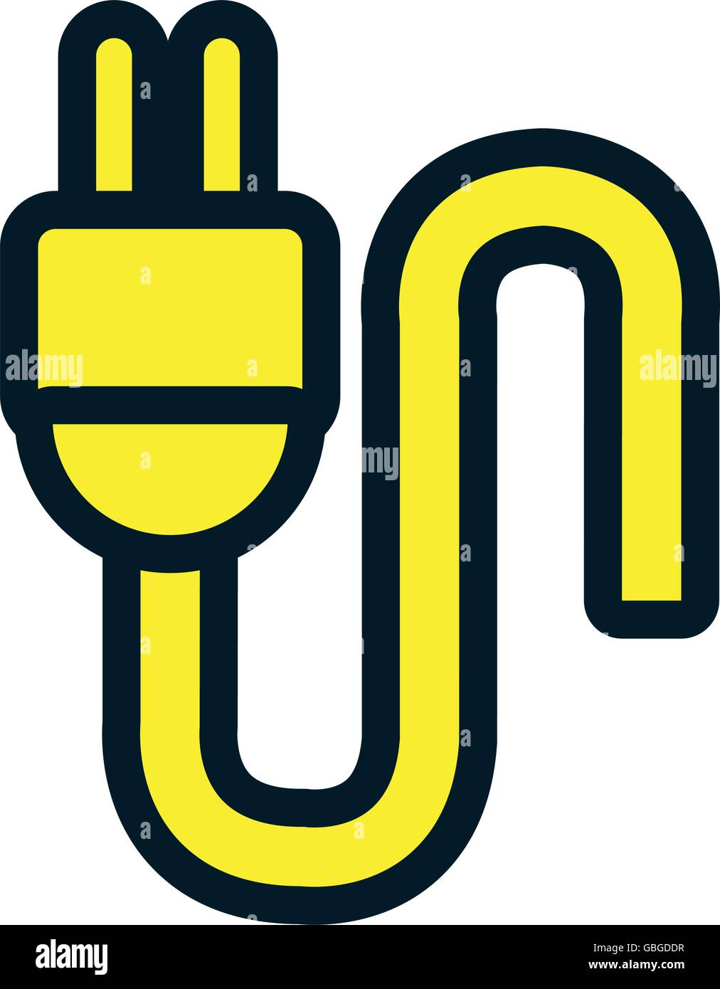 Electric wire isolated flat icon Stock Vector Art & Illustration ...