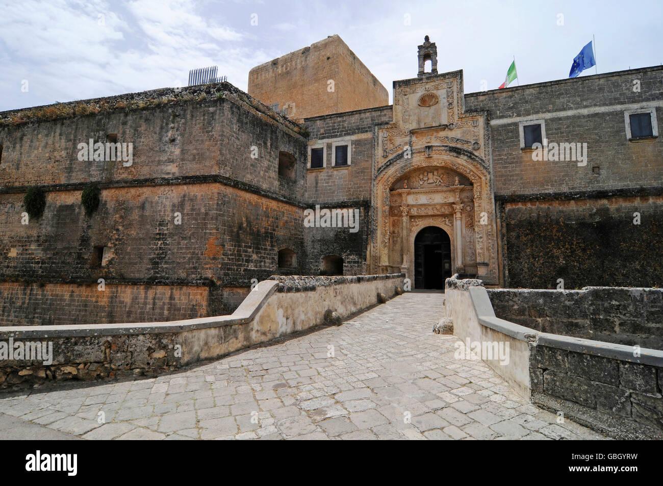 Castello, castle, Copertino, Lecce Province, Puglia, Italy ...
