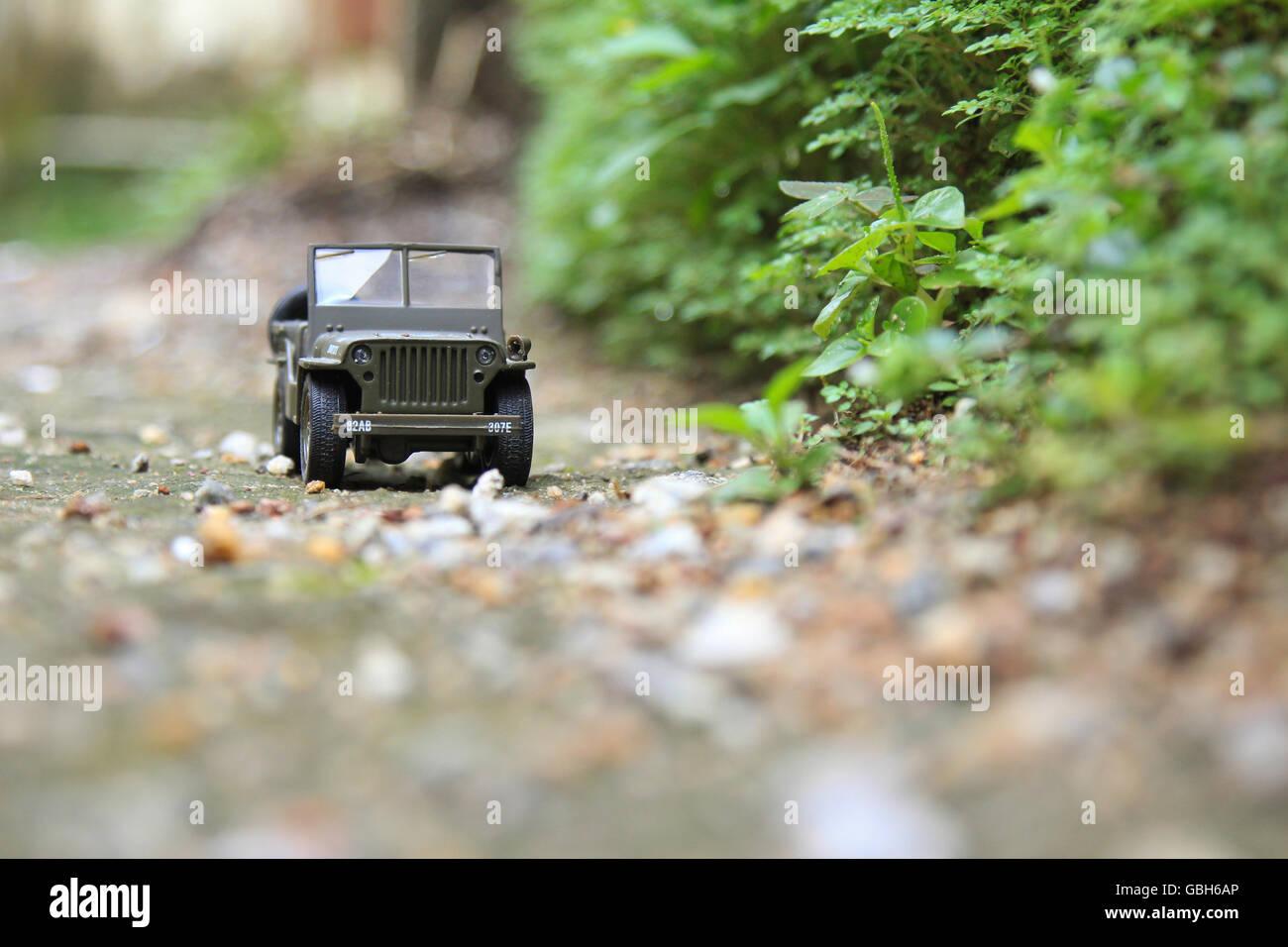 Willys 1:32 City Cruiser Jeep Diecast Model Car Stock Photo