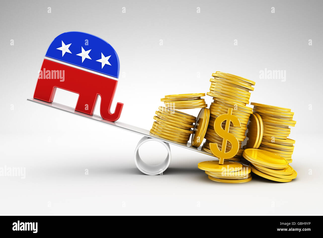 Politics and money - Stock Image