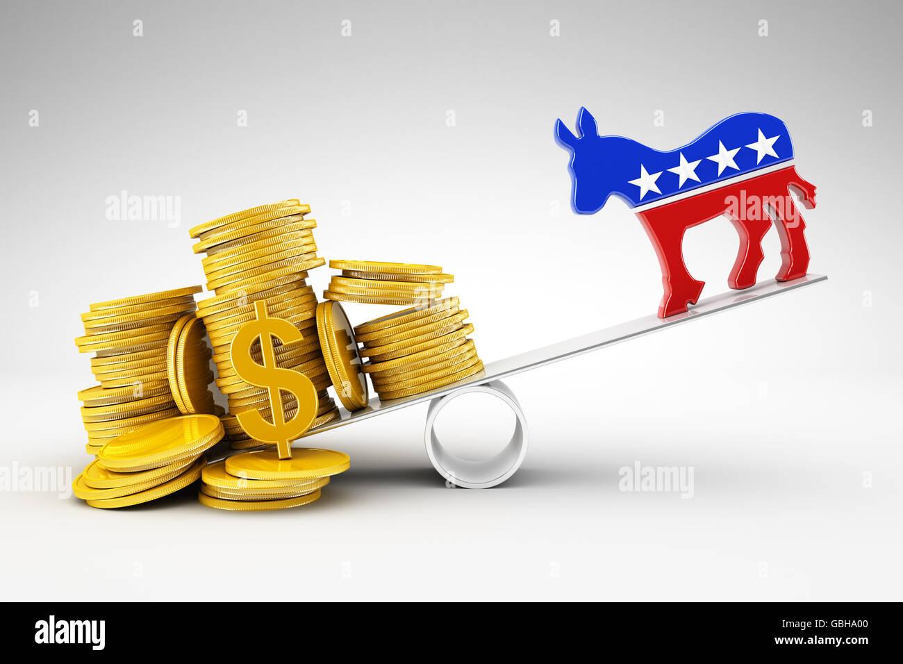 Politics and money - Stock Image