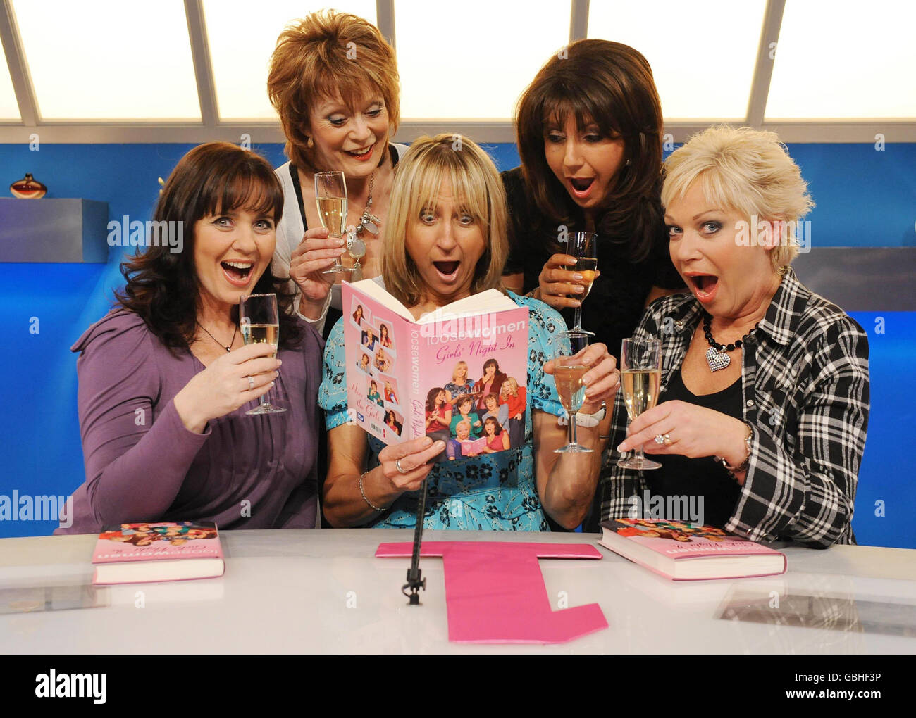 Loose Women promote their book - London - Stock Image