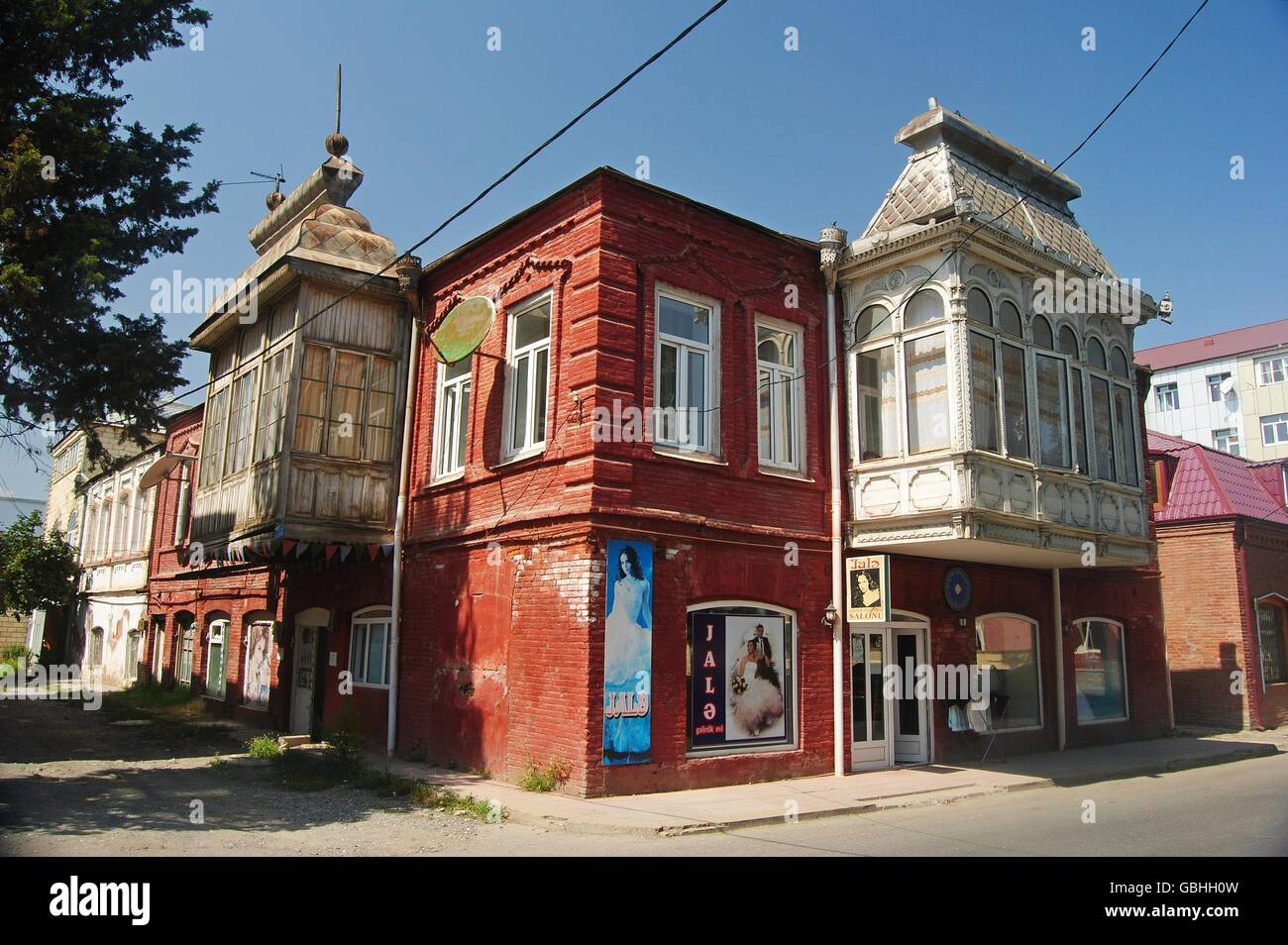 Typical 19th-century house in central Quba - Stock Image
