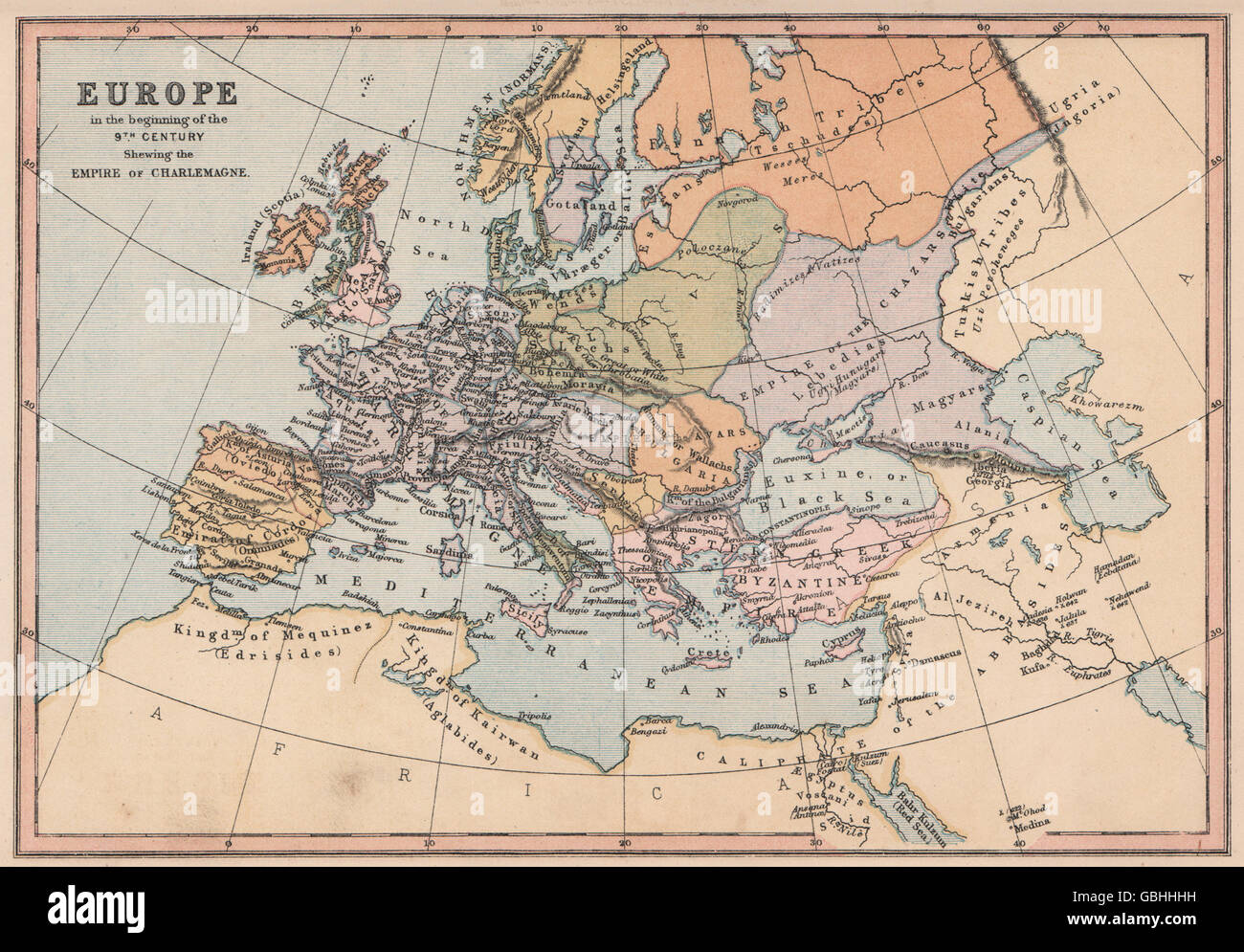 9c Europe Empires Charlemagne Istanbul Emirate Cordoba Collins