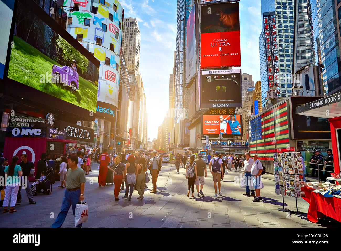 NEW YORK CITY - JUNE 14, 2016: Times Square. USA - Stock Image