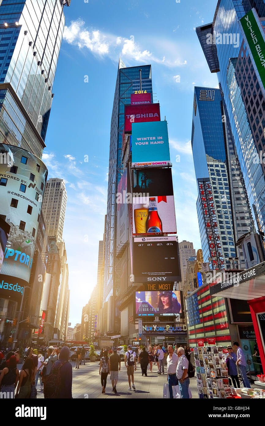 NEW YORK CITY - JUNE 14, 2016: Times Square. USA Stock Photo