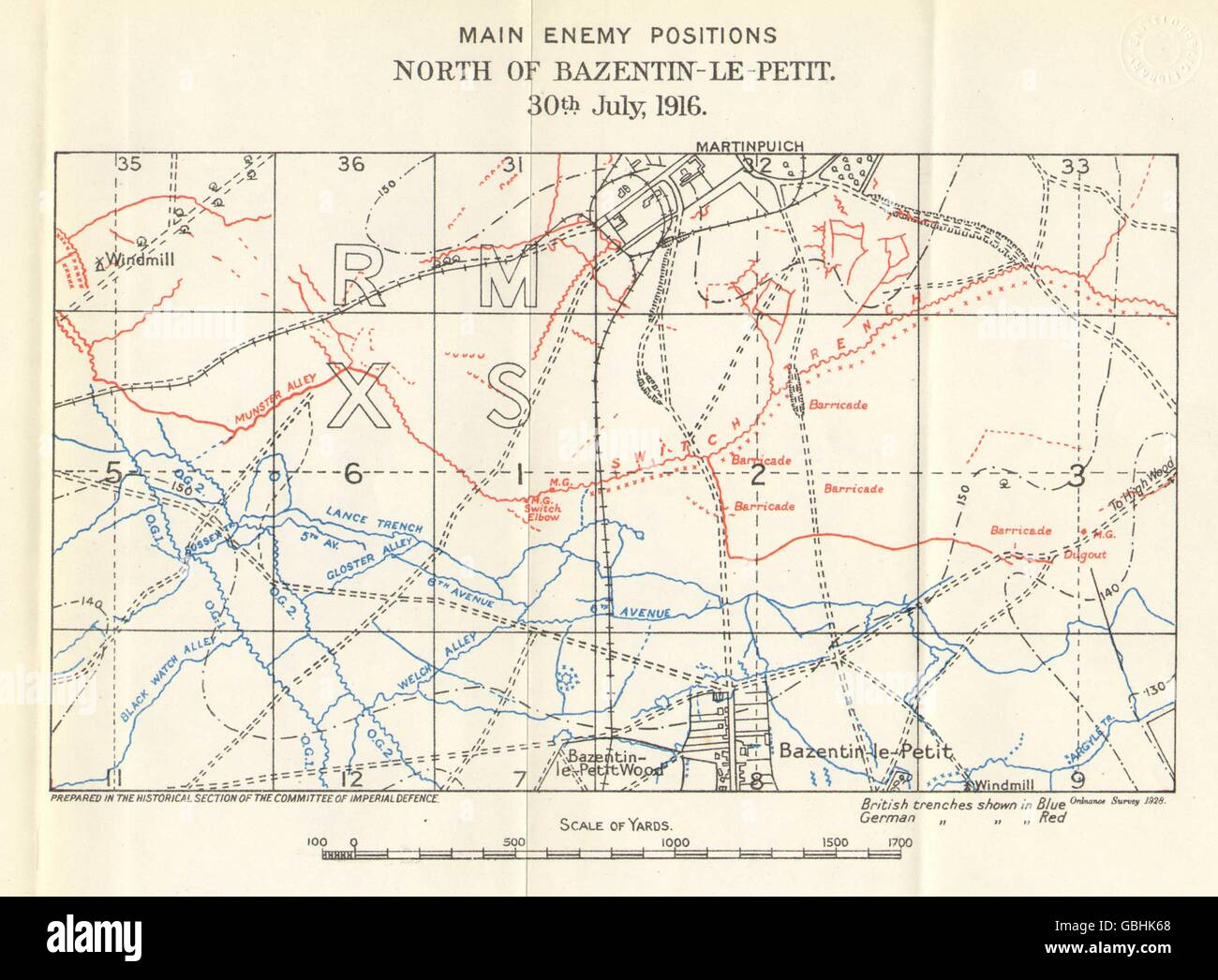 WW1 WESTERN FRONT: Somme. Trenches. Bazentin-le-Petit. 30 ...