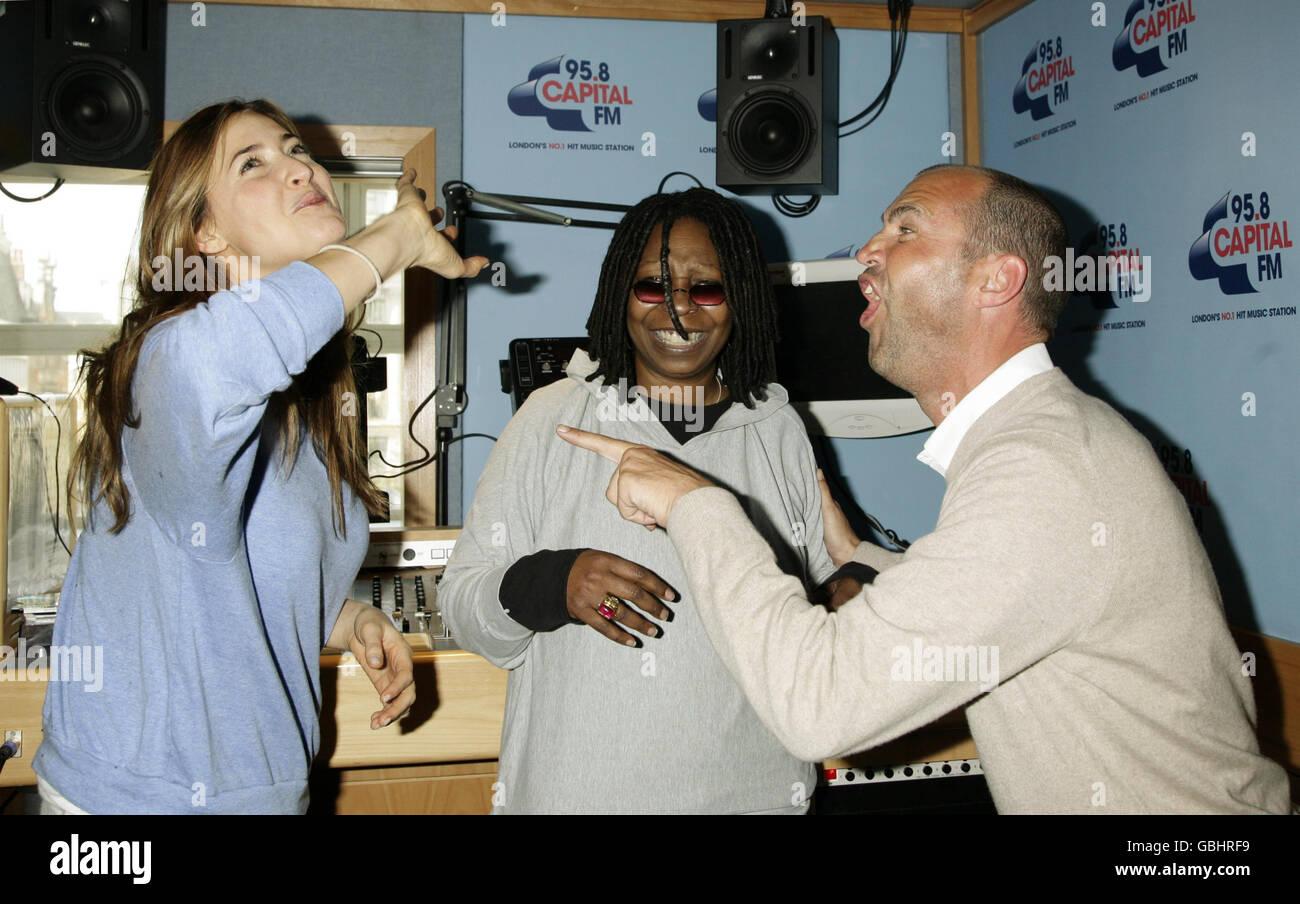 Whoopi Goldberg visits Capital Radio - Stock Image