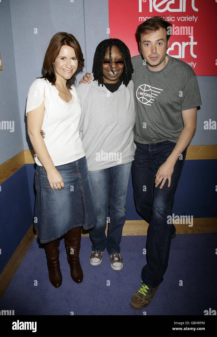 Whoopi Goldberg visits Heart FM - Stock Image