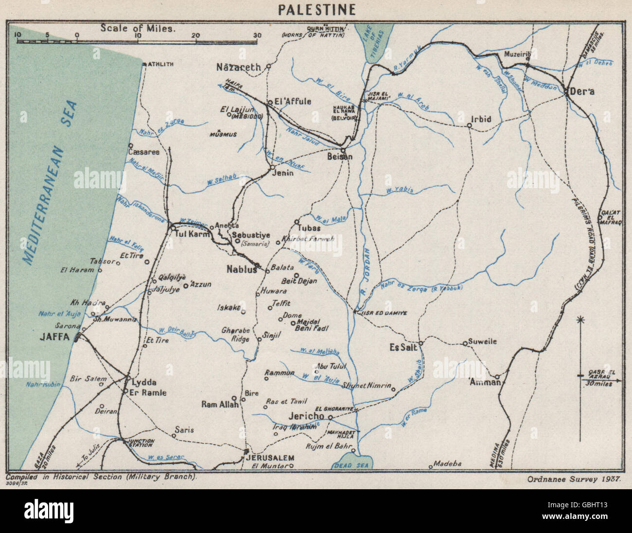 First world war palestine railways communications jaffa jerusalem first world war palestine railways communications jaffa jerusalem 1937 map gumiabroncs Choice Image