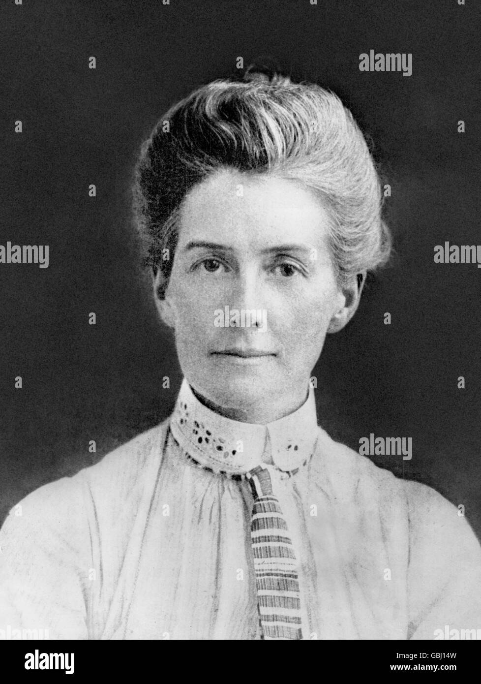 Edith Cavell. Portrait of Edith Louisa Cavell (1865-1915) - Stock Image