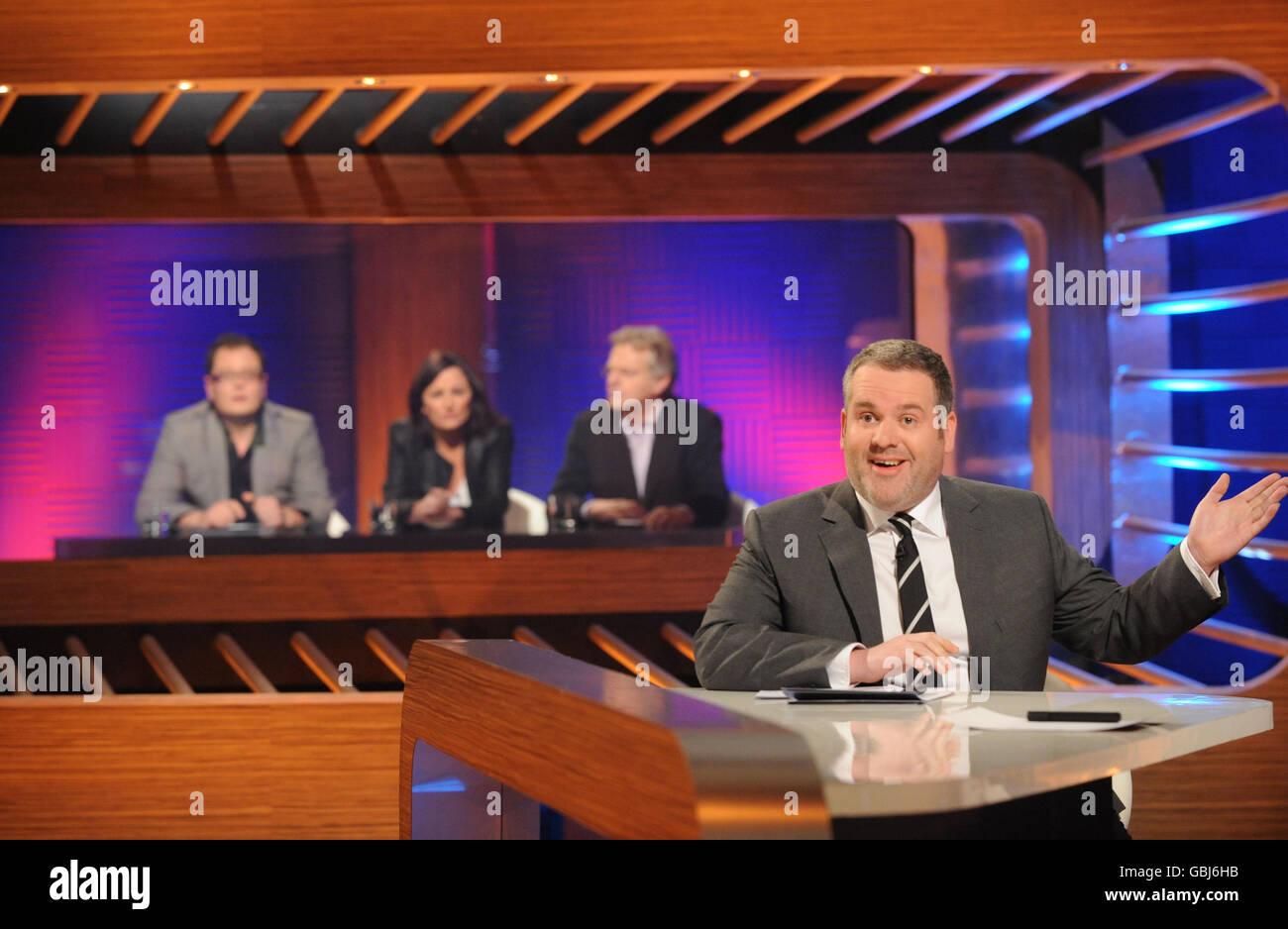 Chris Moyles Quiz Night TV Show - Stock Image
