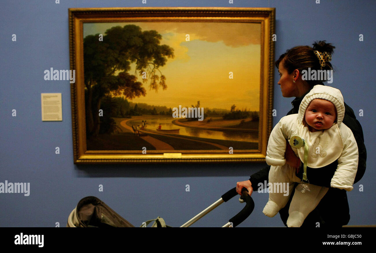 Exhibition opens in Dublin - Stock Image