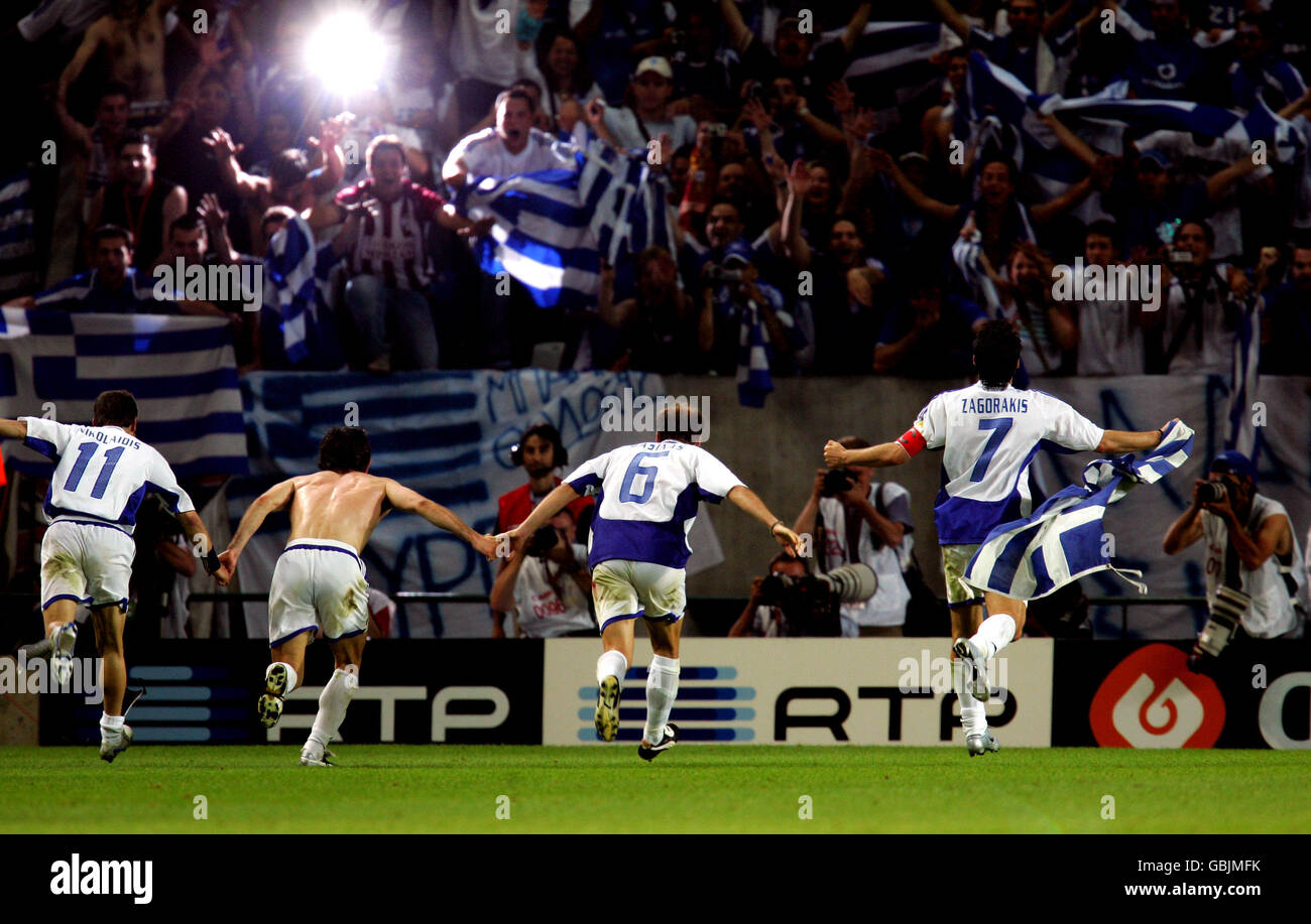 Soccer - UEFA European Championship 2004 - Quarter Finals - France v Greece Stock Photo