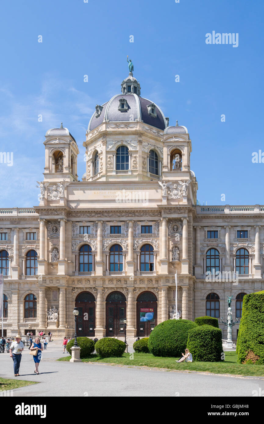 Imperial Natural History Museum on Marie Theresien Platz near Ringstrasse in Vienna, Austria - Stock Image