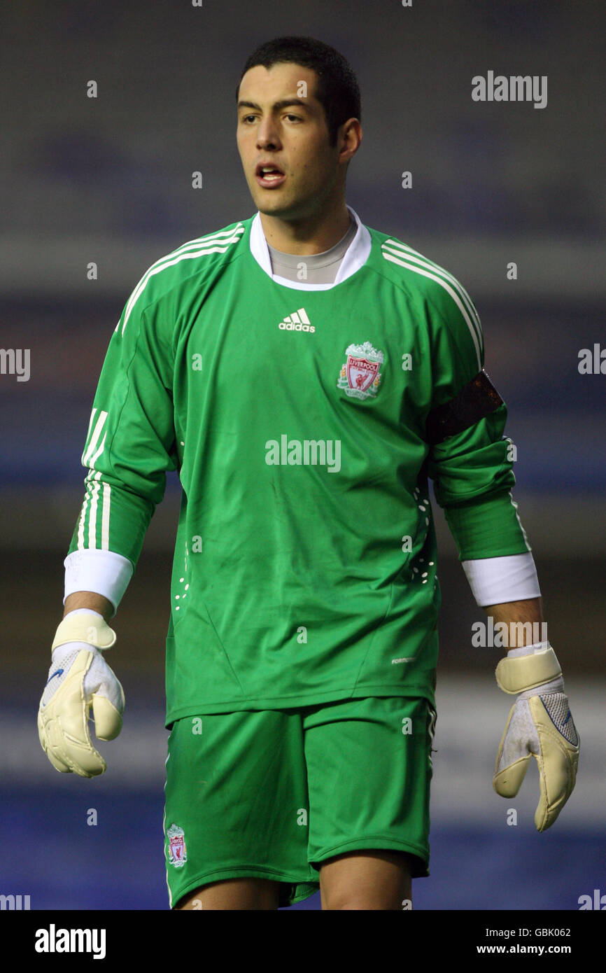 Soccer - FA Youth Cup - Semi Final - Birmingham City v Liverpool - St Andrews - Stock Image