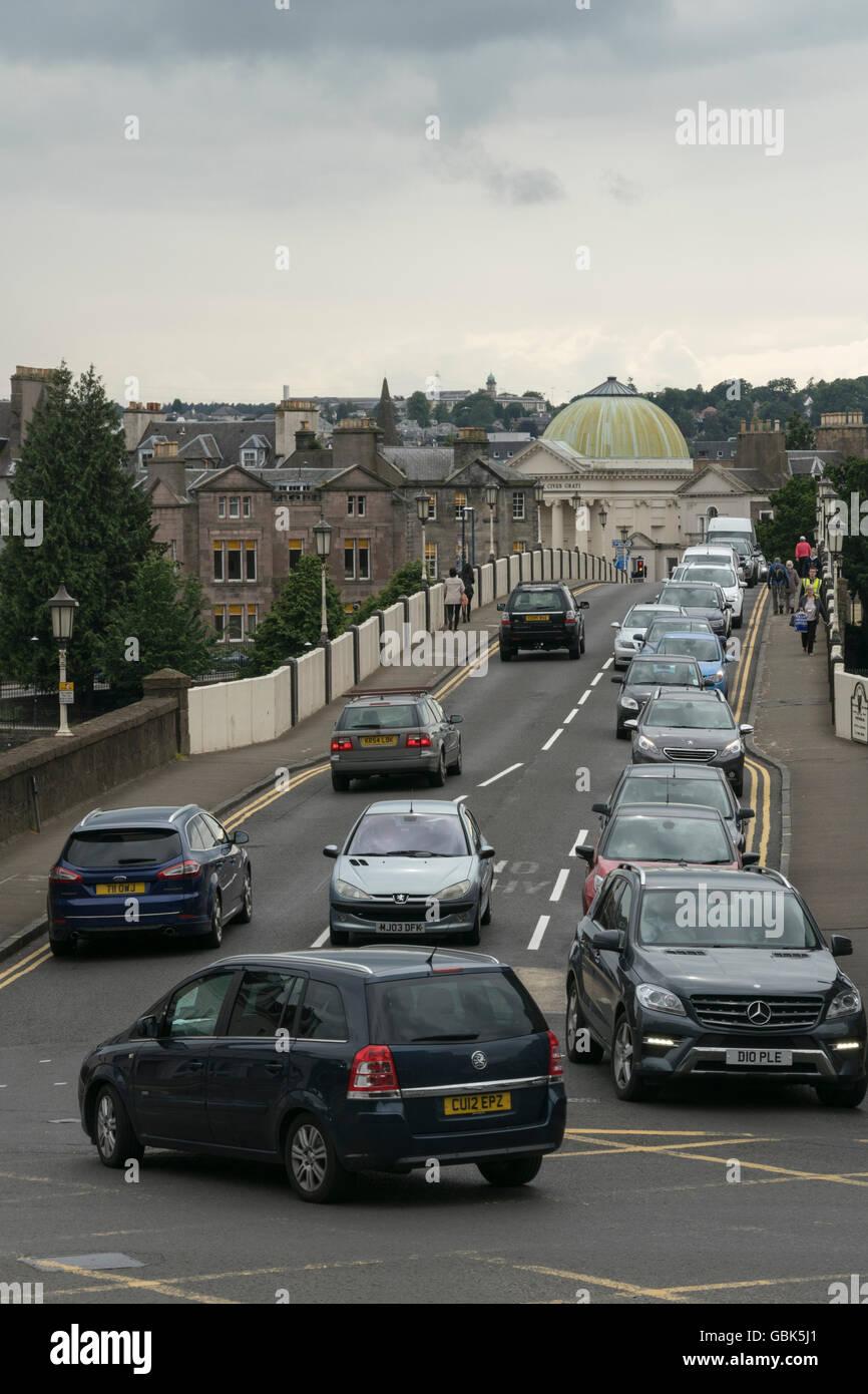 Traffic congestion,Perth,Scotland,UK, - Stock Image