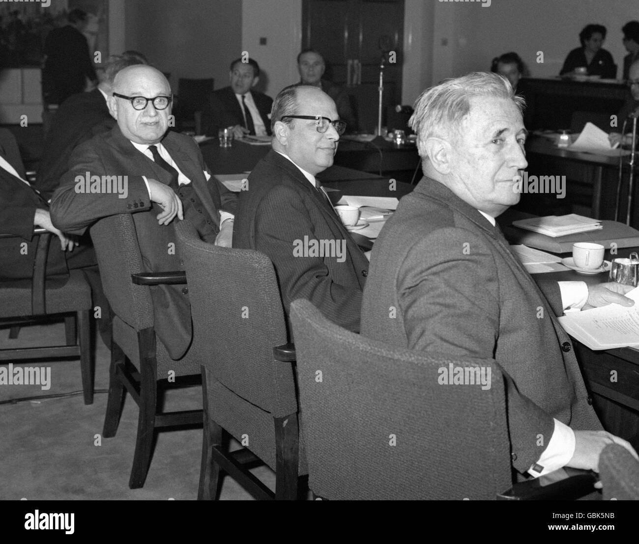International Politics - World Jewish Congress - London - 1965 - Stock Image