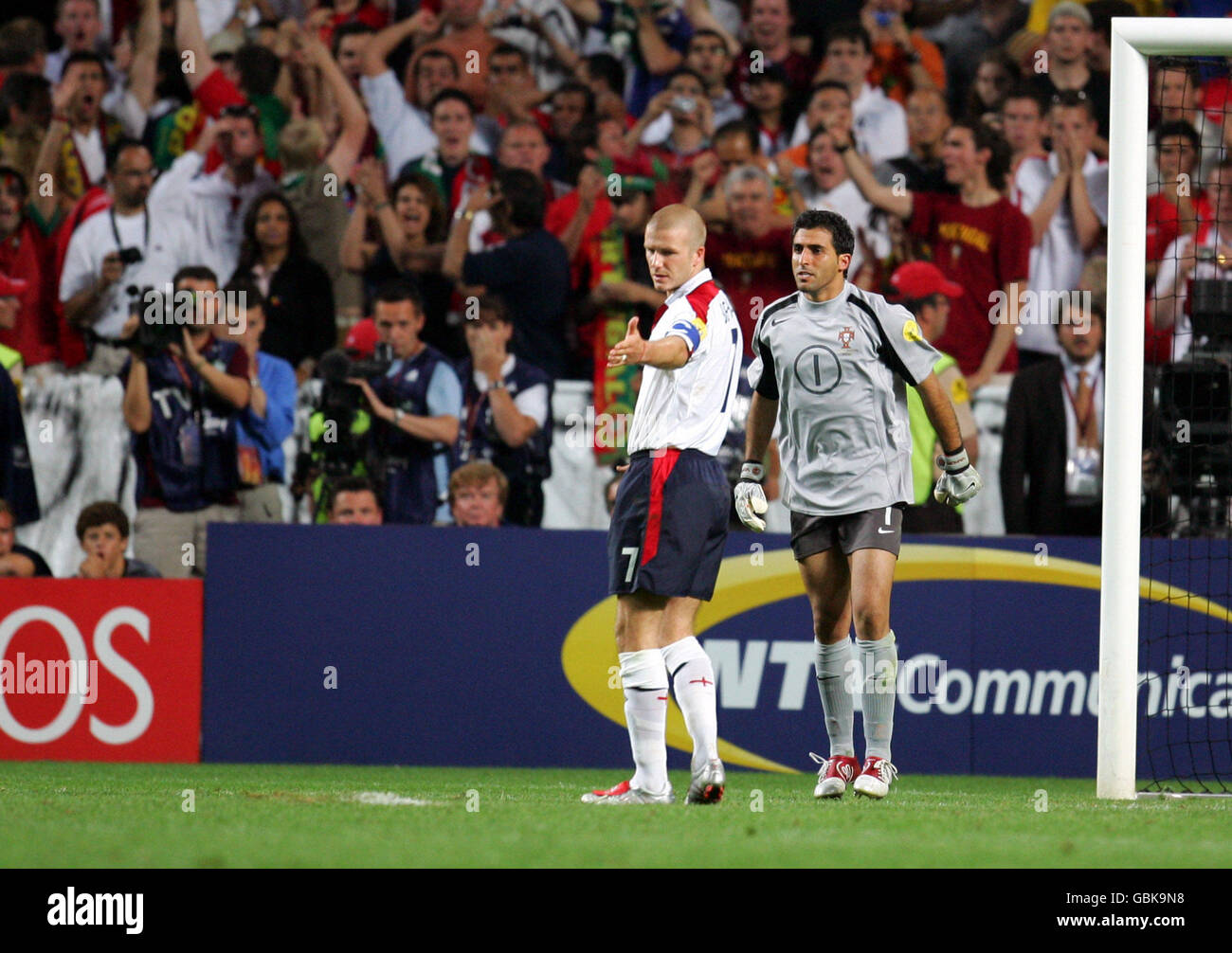 Soccer - UEFA European Championship 2004 - Quarter Final - Portugal v England Stock Photo