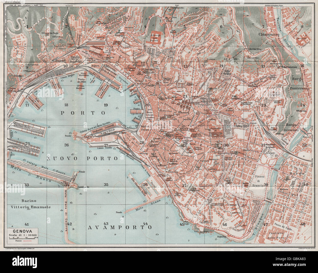 Map Of Genoa Italy Picture Ideas References