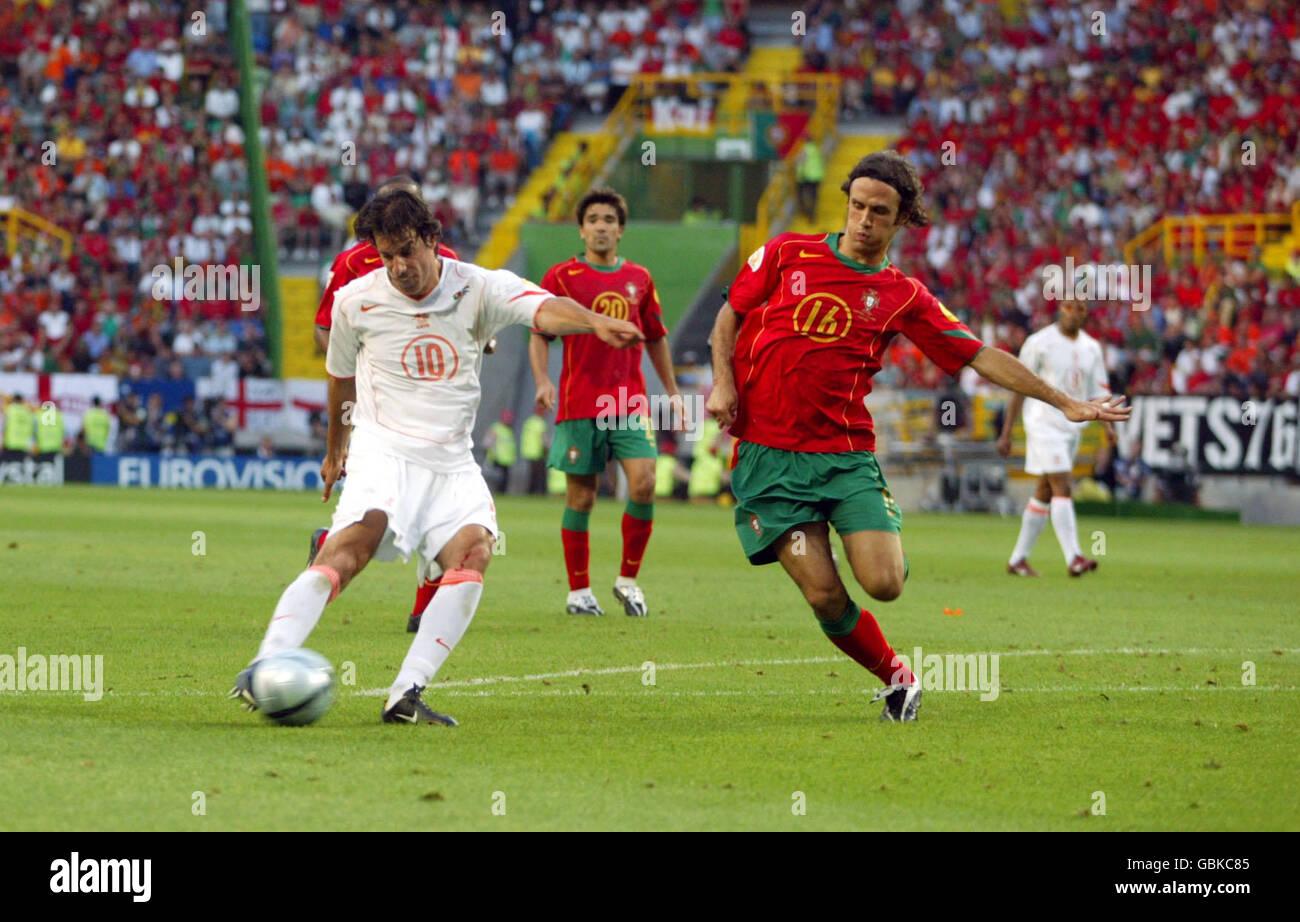 Soccer - UEFA European Championship 2004 - Semi Final - Portugal v Holland Stock Photo