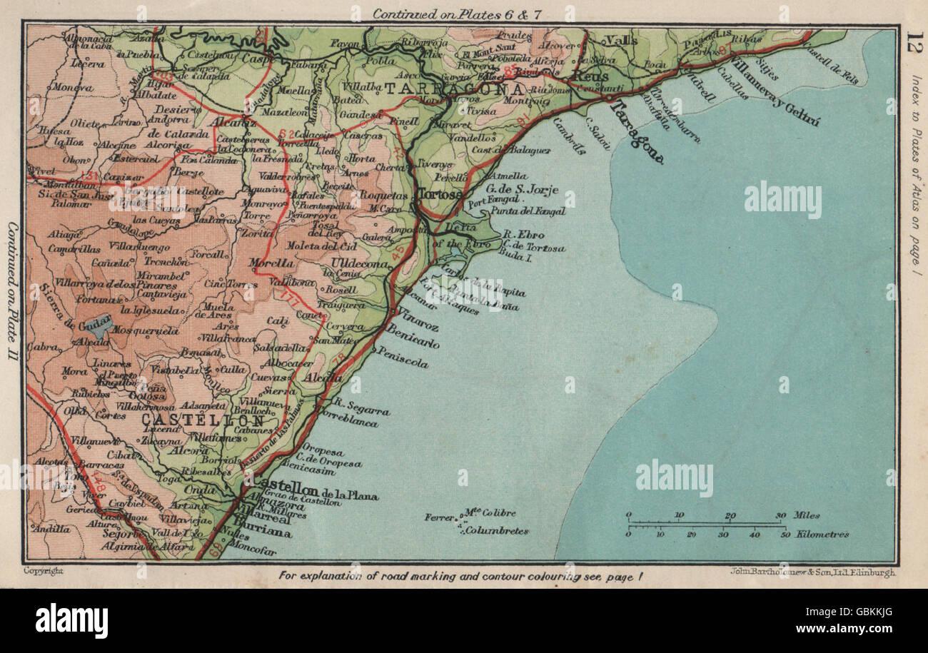 Spain Ne Coast Costa Del Azahar Costa Dorada Tarragona Castellon