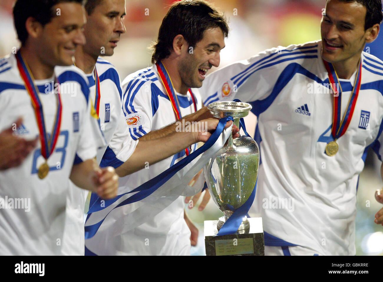 Soccer - UEFA European Championship 2004 - Final - Portugal v Greece Stock Photo