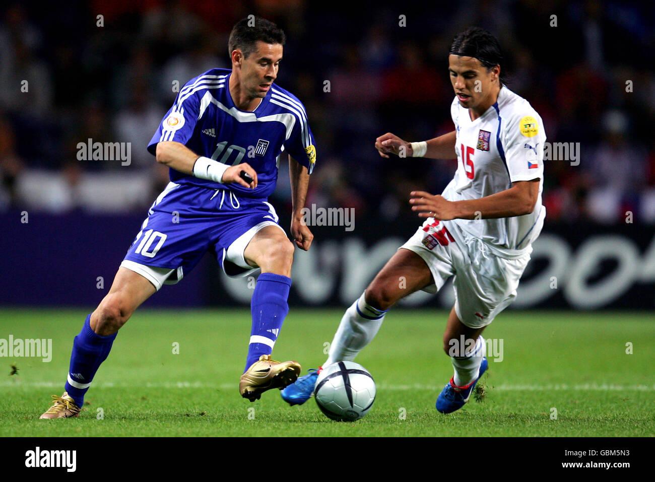 Soccer - UEFA European Championship 2004 - Semi Final - Greece v Czech Republic Stock Photo