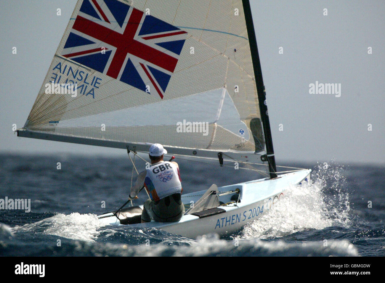 Sailing - Athens Olympic Games 2004 - Men's Single-handed Dinghy-Finn Stock Photo