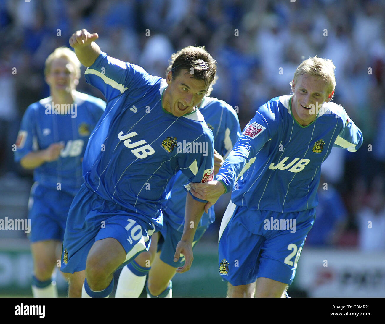 Soccer - Coca-Cola Football League Championship - Wigan Athletic v Nottingham Forest - Stock Image