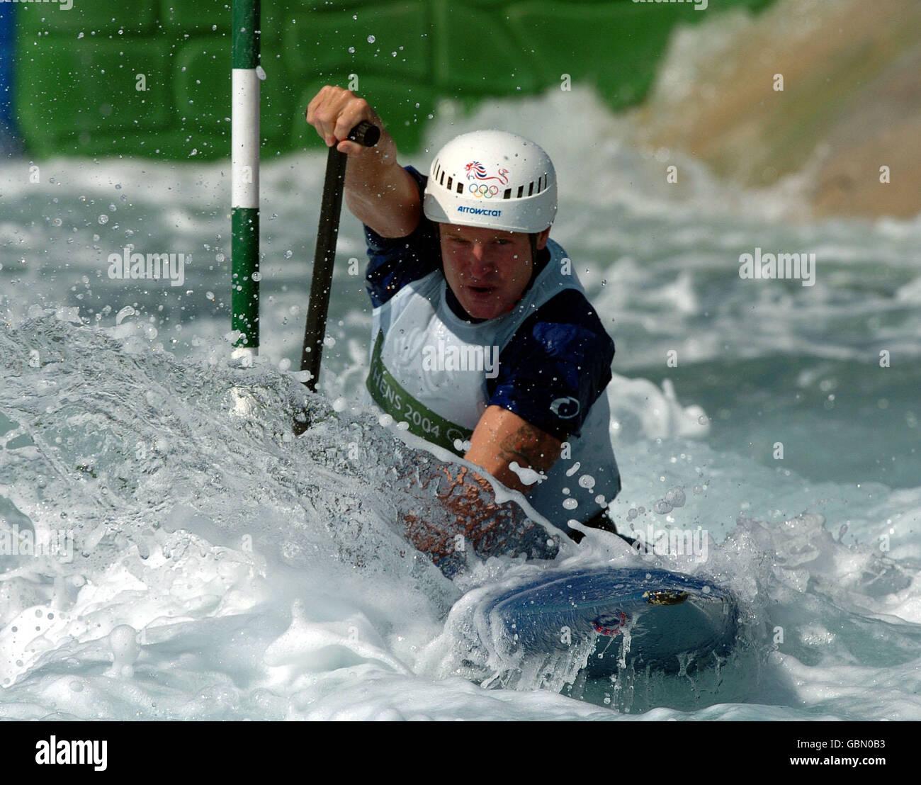 Canoe Slalom - Athens Olympic Games 2004 - Men's C1 Stock